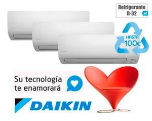 DAIKIN 3MXS52E + (2)FTXS25K + FTXS35K