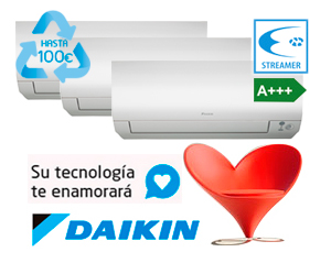 MULTI SPLIT PARED PERFERA Gas R32 DAIKIN 3MXM52M + (3)FTXM25M
