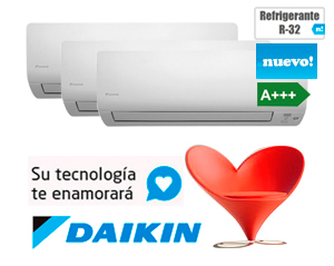 MULTI SPLIT PARED SERIE M Gas R32 DAIKIN 3MXM52M + (3)FTXM25M