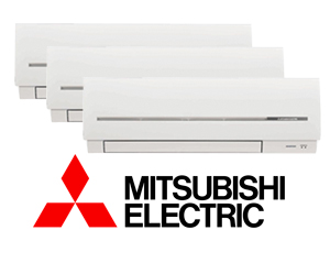 MITSUBISHI ELECTRIC MXZ-3D54VA2 + (3) MSZ-SF25VE2