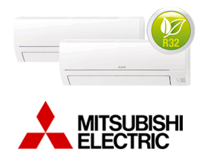 MITSUBISHI ELECTRIC MXZ-2HA40VF + (2)MSZ-HR25VF
