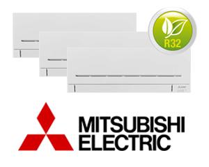 MITSUBISHI ELECTRIC MXZ-3F54VF + (3) MSZ-AP25VG